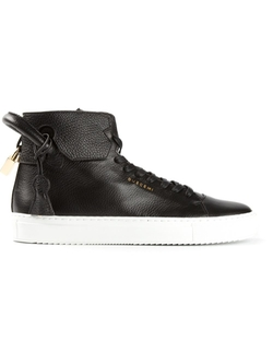 Buscemi   - Rabbit Fur Trim Hi Top Sneakers