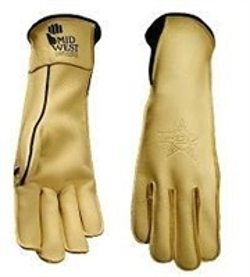 Midwest - Long Cuff Pbr Bull Riding Gloves