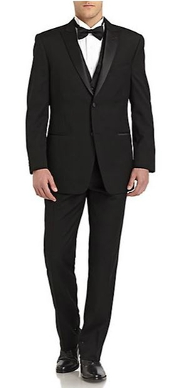 Ike Behar - Classic-Fit Wool Satin Peaked-Lapel Tuxedo