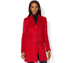 Lauren Ralph Lauren  - Single-Breasted Wool-Blend Walker Coat