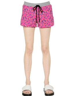 Markus Lupfer  - Printed Heavy Cotton Jersey Shorts