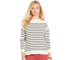 Lauren Jeans Co.  - Striped Boat-Neck Sweater