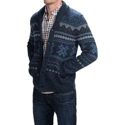 Woolrich - Ultra-Line Fair Isle Cardigan Sweater