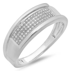 Dazzlingrock Collection - Diamond  Micro Pave Hip Hop Ring