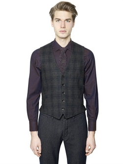 Lardini - Plaid Wool & Cashmere Vest