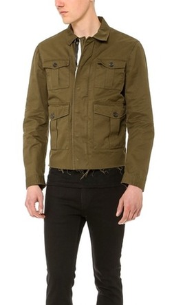 Dsquared2 - Twill Leather Jacket