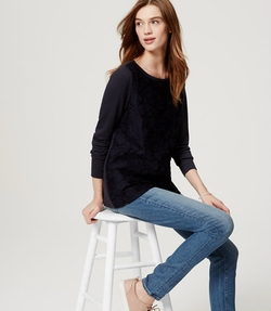 Loft - Floral Lace Sweater
