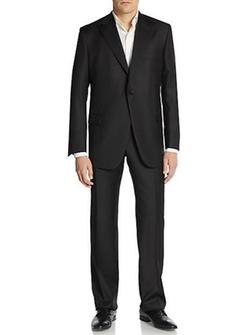 Hickey Freeman  - Peaked Lapel Worsted Wool Suit
