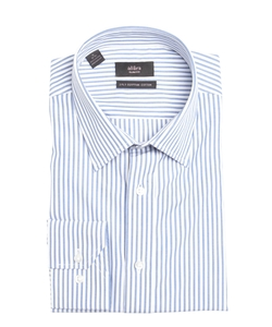 Alara - Striped Cotton Point Collar Dress Shirt