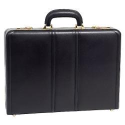 McKleinUSA  - Daley Black Leather Attache Case