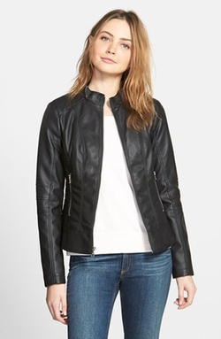 Guess - Faux Leather Scuba Jacket