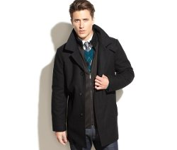 Kenneth Cole - Wool-Blend Over Coat Slim-Fit