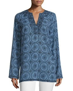 Michael Michael Kors  - Miura Printed Long-Sleeve Tunic