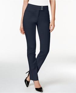 Style&Co. - Tummy-Control Slim-Leg Pants