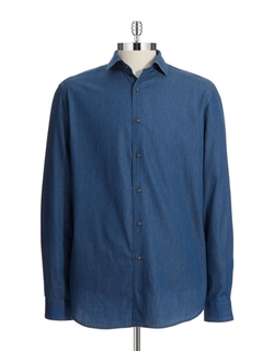Black Brown 1826 - Cotton Chambray Sportshirt