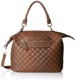 Del Mano  - Quilted Convertible Top Handle Bag