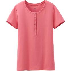 UNIQLO - SUPIMA COTTON HENLEY NECK SHORT SLEEVE T-SHIRT