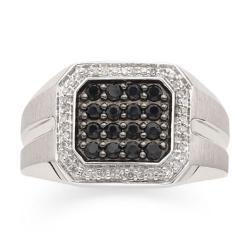 JcPenney - Mens 1/6 CT. T.W. Diamond & Black Sapphire Ring