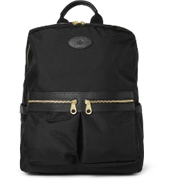 Mulberry   - Henry Leather-Trimmed Nylon Backpack