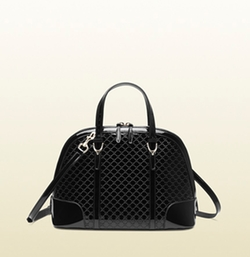 Gucci - Nice Microguccissima Patent Handle Bag