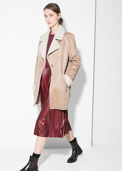 Magno - Faux Shearling-Lined Coat