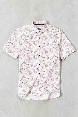 Penfield  - Hula Print Short-Sleeve Button-Down Shirt