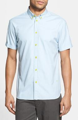 Marc By Marc Jacobs - Trim Fit Short Sleeve Oxford Sport Shirt