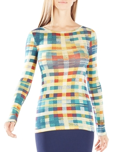 BCBGmaxazria  - Agda Plaid Top