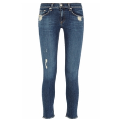 Rag & Bone - Distressed Low-Rise Skinny Jeans