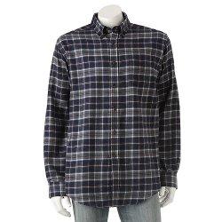 Croft & Barrow - Plaid Flannel Button-Down Shirt