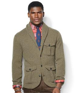 Polo Ralph Lauren  - Wool-Blend Shawl-Collar Cardigan