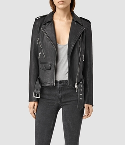 AllSaints - Rawley Leather Biker Jacket