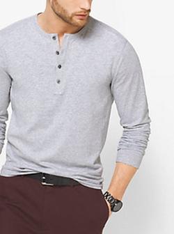 Michael Kors - Cotton-Jaspe Henley Shirt