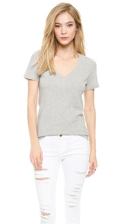 FRAME  - Le Classic V Neck T-Shirt