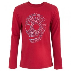 Ikks - Long Sleeve Red Skull Tee Shirt