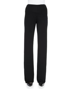 Armani Collezioni - Straight-Leg Side-Zip Pants
