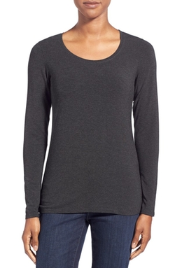 Eileen Fisher  - Scoop Neck Stretch Knit Tee