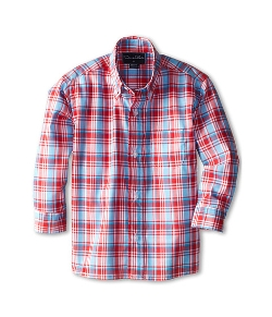 Oscar De La Renta Childrenswear - Plaid Cotton Long Sleeve Woven Shirt