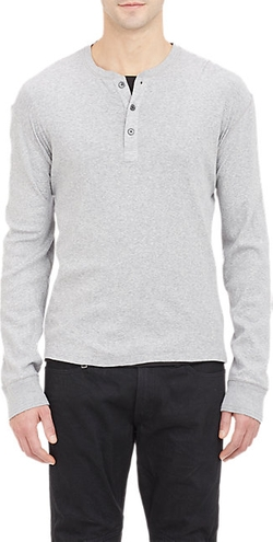 Ralph Lauren Black Label - Rib-Knit Henley Shirt