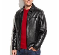 Izod - Leather Bomber Jacket