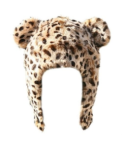Born To Love Clothing - Kids Leopard Print Faux Fur Hat