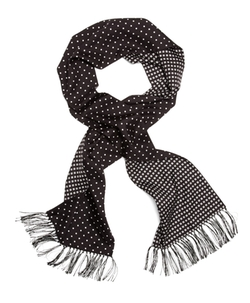 Brooks Brothers - Silk Polka Dot Formal Scarf