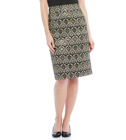 Alex Marie - Metallic Printed Helen Pencil Skirt