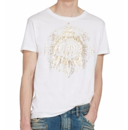 Balmain - Short Sleeve Cotton T-Shirt