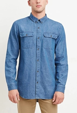 Forever 21 - Two-Pocket Denim Shirt