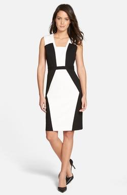 Classiques Entier - Colorblock Ponte Sheath Dress