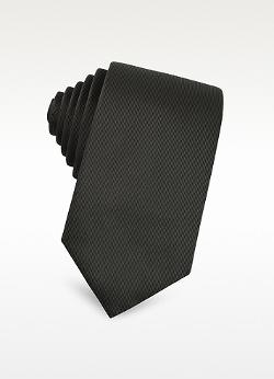 Christian Dior  - Solid Textured Silk Blend Tie