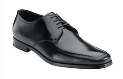 Prada - Apron Front Leather Derby Shoes