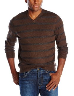 Haggar  - Jersey Stripe V-Neck Sweater