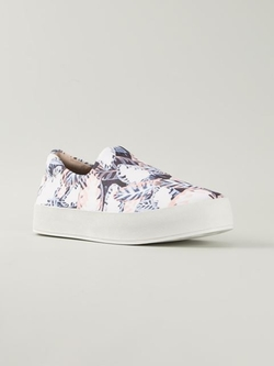 Opening Ceremony - Leaf Print Slip-On Sneakers